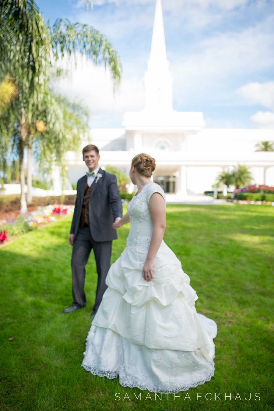 LDS Orlando Florida Temple Wedding