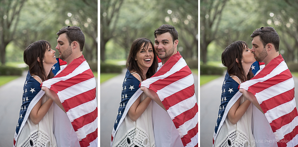 Patriotic Cypress Grove Engagement